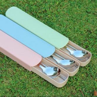 不锈钢便携餐具三件套