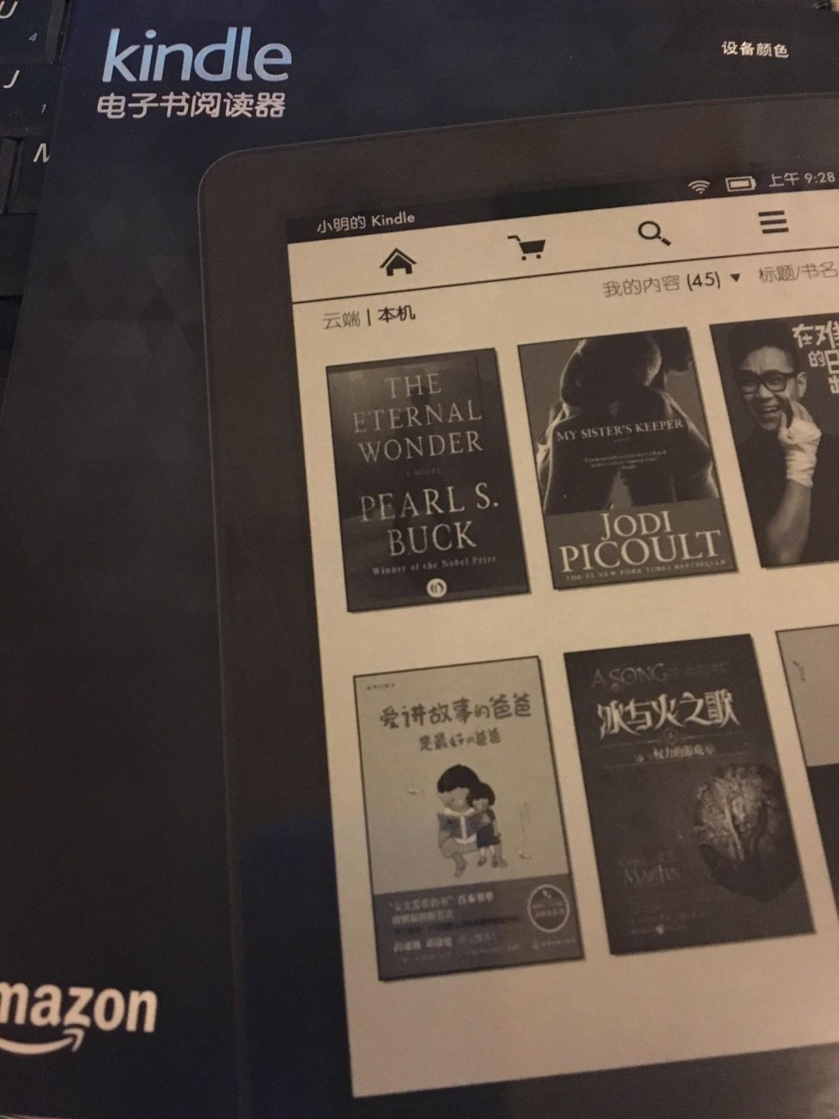 亚马逊New Kindle电子书阅读器电纸书电子墨水屏